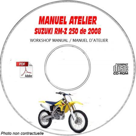 RM-Z250 2008 Manuel Atelier CDROM SUZUKI Anglais