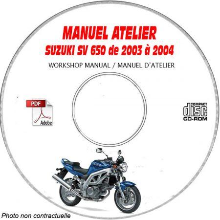 SV 650 N-S 03-04 Manuel Atelier CDROM SUZUKI