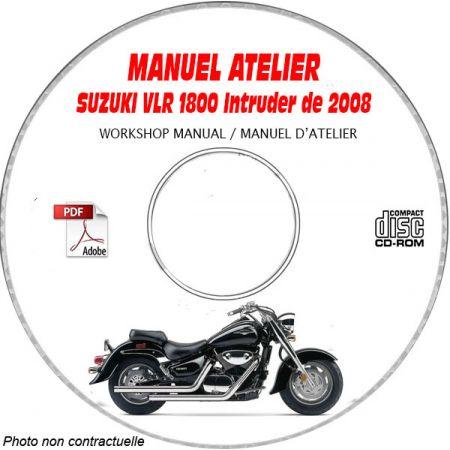 VLR 1800 2008 Manuel Atelier CDROM SUZUKI Anglais