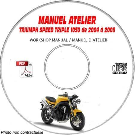 SPEED TRIPLE 1050 -05 Manuel Atelier CDROM TRIUMPH Anglais