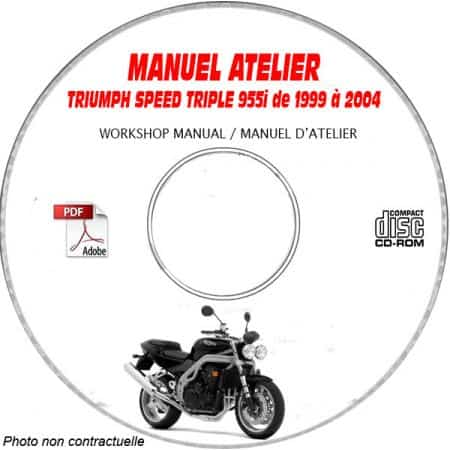 MANUEL D'ATELIER SPEED TRIPLE 955i 2002 +
