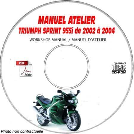SPRINT 955i 02- Manuel Atelier CDROM TRIUMPH Anglais