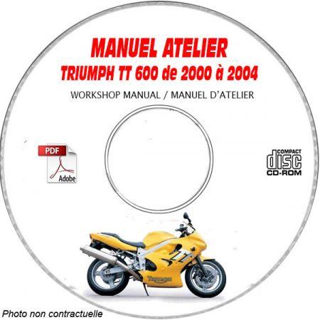 TT600 -03 Manuel Atelier CDROM TRIUMPH Anglais