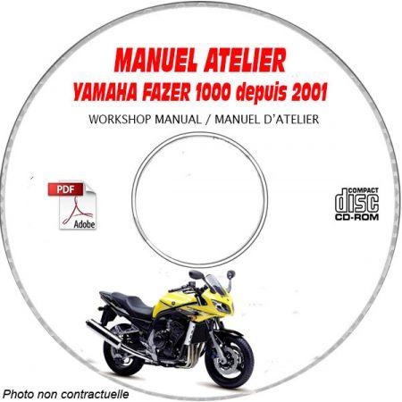 FAZER 1000 2001 Manuel Atelier CDROM YAMAHA Anglais