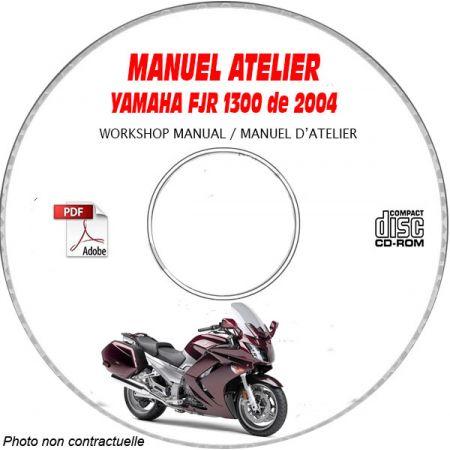 FJR 1300 2004 Manuel Atelier CDROM YAMAHA