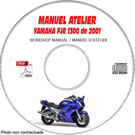 FJR 1300 2001 Manuel Atelier CDROM YAMAHA
