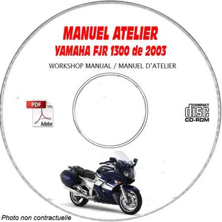 FJR 1300 2003 Manuel Atelier CDROM YAMAHA