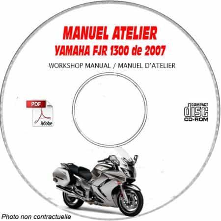 FJR 1300 2007 Manuel Atelier CDROM YAMAHA