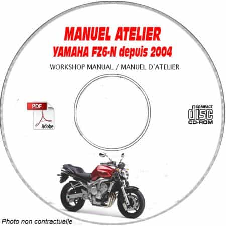 FZ6-N 2004 Manuel Atelier CDROM YAMAHA
