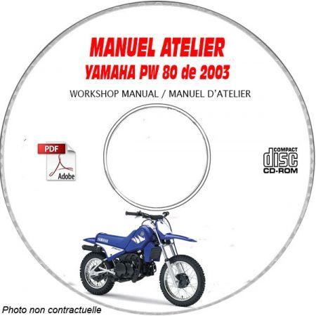 PW 80 2003 Manuel Atelier CDROM YAMAHA