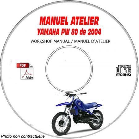 PW 80 2004 Manuel Atelier CDROM YAMAHA