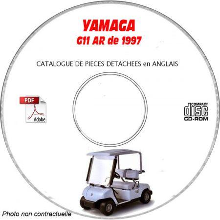 G 11AR 1997 Catalogue Pièces CDROM YAMAHA Anglais
