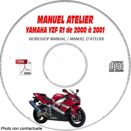 YZF R1 00-01 Manuel Atelier CDROM YAMAHA Anglais