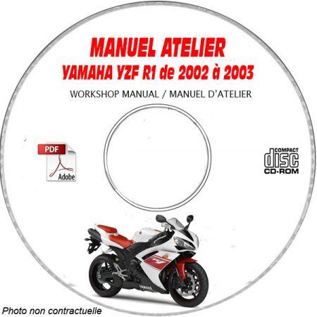 YZF R1 2002 Manuel Atelier CDROM YAMAHA Anglais