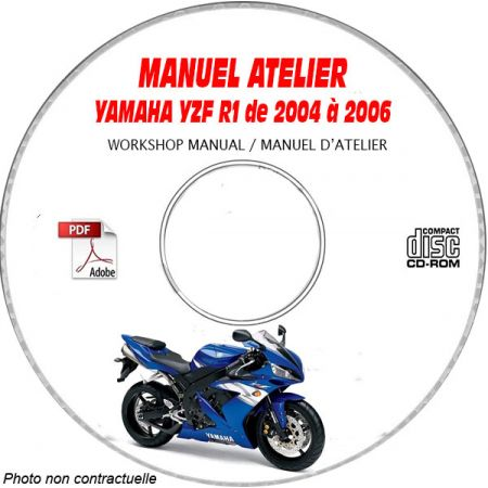YZF R1 2004 Manuel Atelier CDROM YAMAHA Anglais