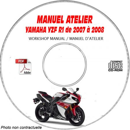 YZF R1 2007 Manuel Atelier CDROM YAMAHA FR