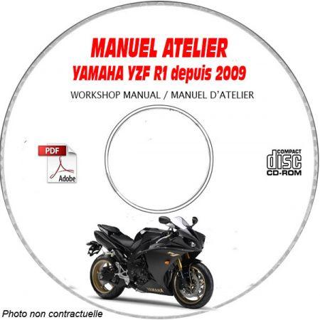 YZF R1 2009 Manuel Atelier CDROM YAMAHA Anglais