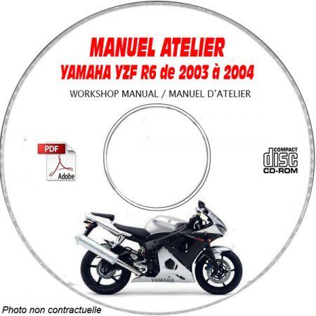 YZF R6 03-04 Manuel Atelier CDROM YAMAHA Anglais