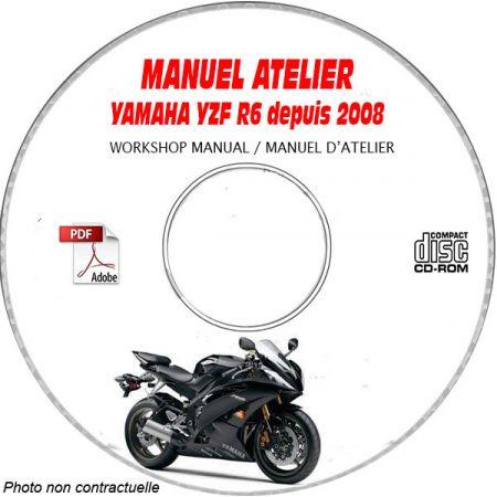 YZF R6 08 Manuel Atelier CDROM YAMAHA Anglais