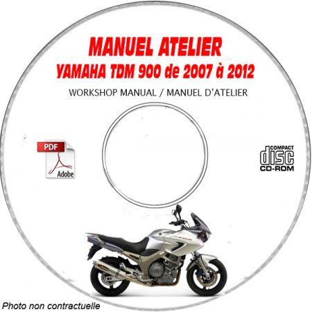TDM 900 2007 Manuel Atelier CDROM YAMAHA