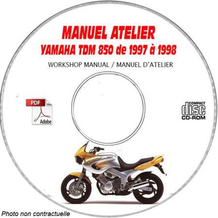 TDM 850 97-98 Manuel Atelier CDROM YAMAHA