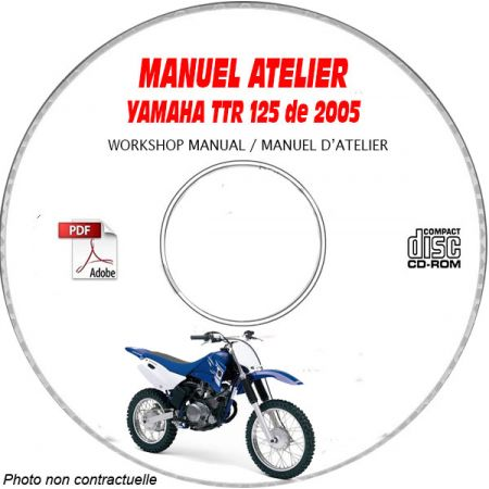TTR 125 2005 Manuel Atelier CDROM YAMAHA FR