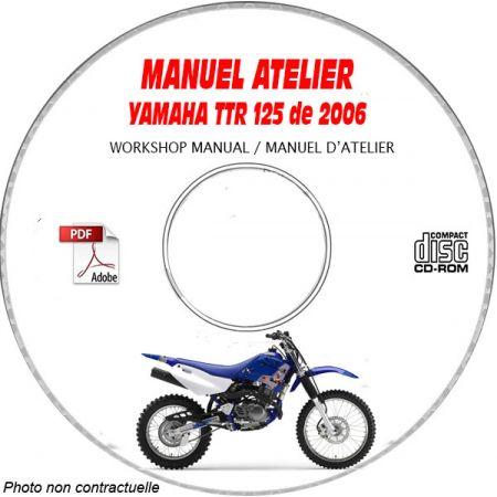 TTR 125 2006 Manuel Atelier CDROM YAMAHA FR