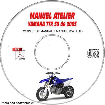 TTR 50 2005 Manuel Atelier CDROM YAMAHA FR