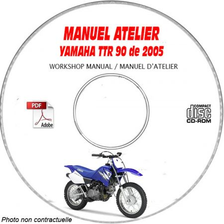 TTR 90 2005 Manuel Atelier CDROM YAMAHA FR