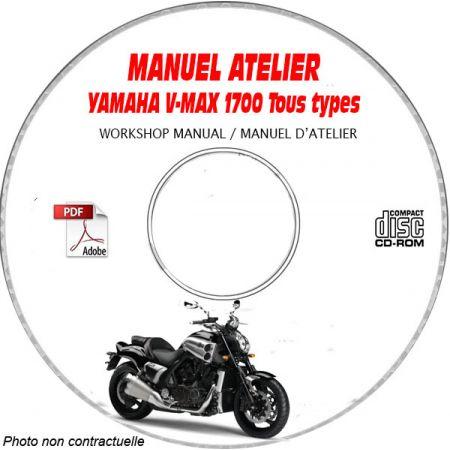 V-MAX 1700 -09 Manuel Atelier CDROM YAMAHA Anglais