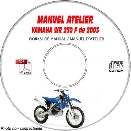 WRF 250 2003 Manuel Atelier CDROM YAMAHA Anglais