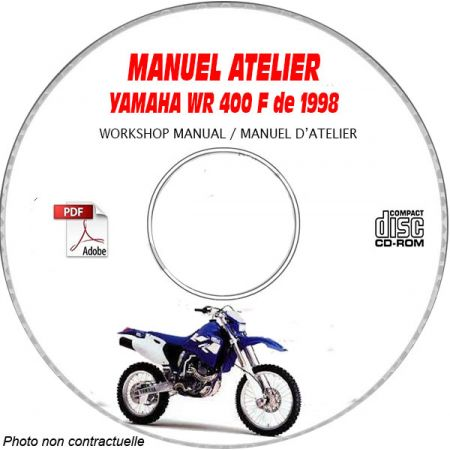 WR 400F 1998 Manuel Atelier CDROM YAMAHA Anglais