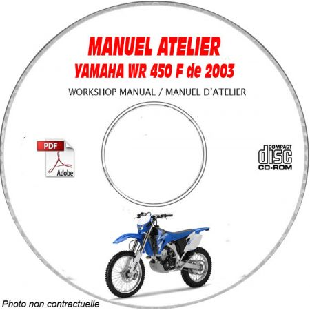 WR 450FR 2003 Manuel Atelier CDROM YAMAHA Anglais