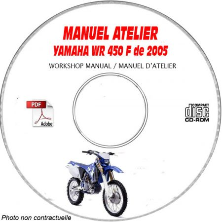 WR 450F 2005 Manuel Atelier CDROM YAMAHA Anglais