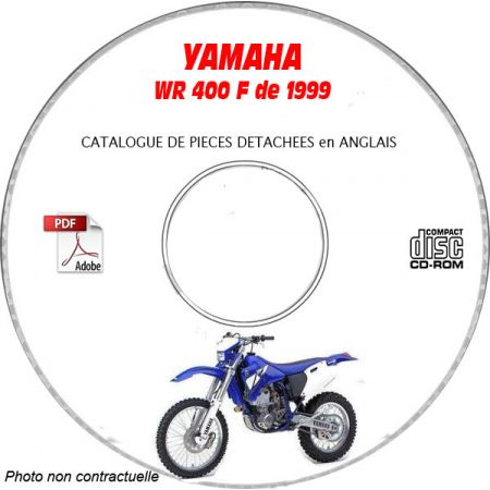 WR 400F 1999 Catalogue Pièces CDROM YAMAHA Anglais