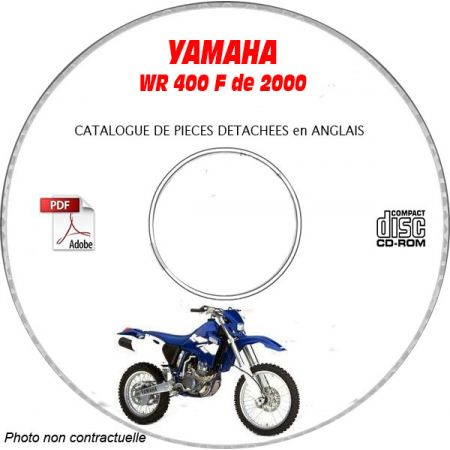 WR 400F 2000 Catalogue Pièces CDROM YAMAHA Anglais