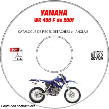 WR 400F 2001 Catalogue Pièces CDROM YAMAHA Anglais