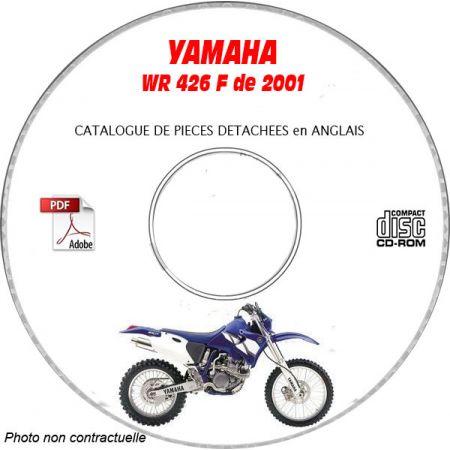 WR 426F 2001 Catalogue Pièces CDROM YAMAHA Anglais