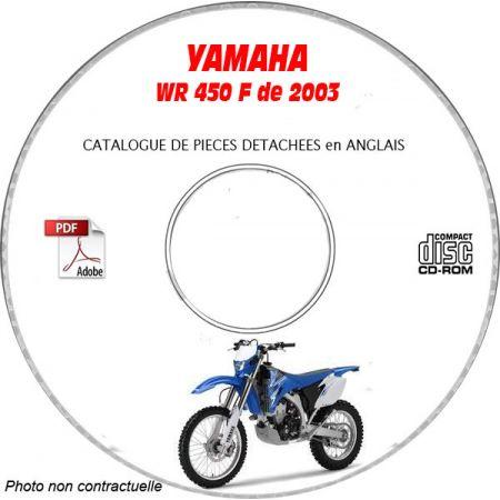 WR 450F 2003 Catalogue Pièces CDROM YAMAHA Anglais