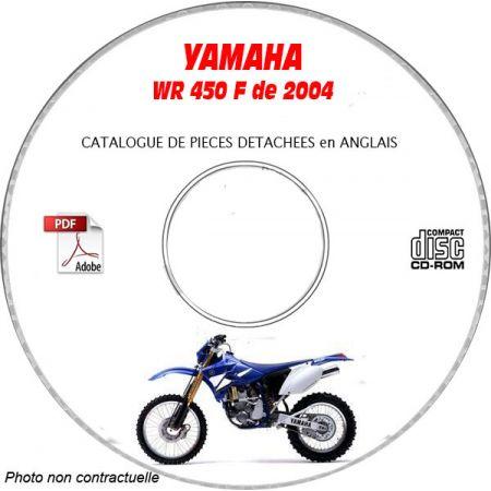 WR 450F 2004 Catalogue Pièces CDROM YAMAHA Anglais