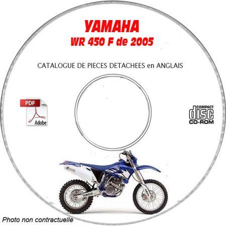 WR 450F 2005 Catalogue Pièces CDROM YAMAHA Anglais