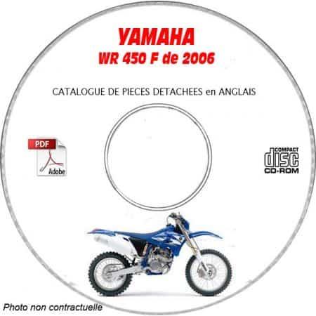 WR 450F 2006 Catalogue Pièces CDROM YAMAHA Anglais