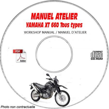 XT 660 04 Manuel Atelier CDROM YAMAHA Anglais