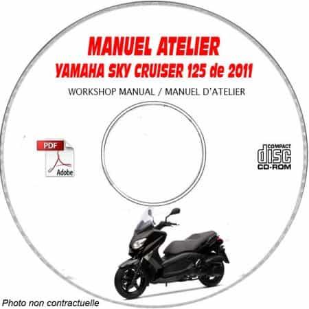 SKY CRUISER 125 2011 Manuel Atelier CDROM YAMAHA