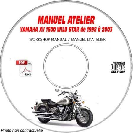 XV 1600 WILD STAR 98-03 Manuel Atelier CDROM YAMAHA Anglais