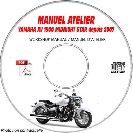XV 1900 MIDNIGHT STAR 2007 Manuel Atelier CDROM YAMAHA Anglais