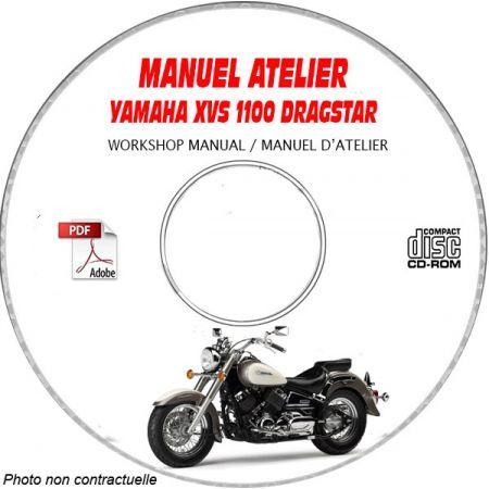 XVS 1100 DRAGSTAR 98-01 Manuel Atelier CDROM YAMAHA FR