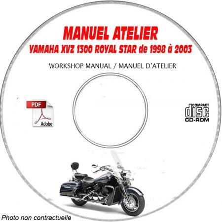 XVZ 1300 ROYAL STAR 98-03 - Manuel Atelier CDROM YAMAHA Anglais