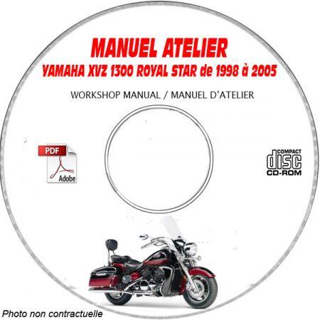 XVZ 1300 ROYAL STAR 98-05 - Manuel Atelier CDROM YAMAHA Anglais
