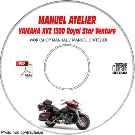 XVZ 1300 ROYAL STAR VENTURE -99 Manuel Atelier CDROM YAMAHA Anglais